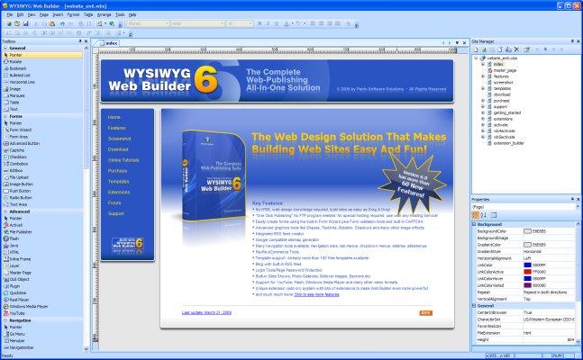 WYSIWYG Web Builder - Screenshot